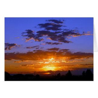 Rural Idaho Sunset Card