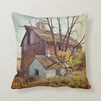 Rural Illinois Barn Pillow
