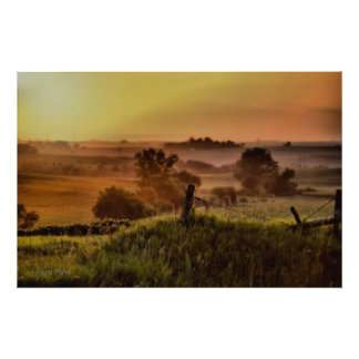 Rural Iowa Sunset Photograph