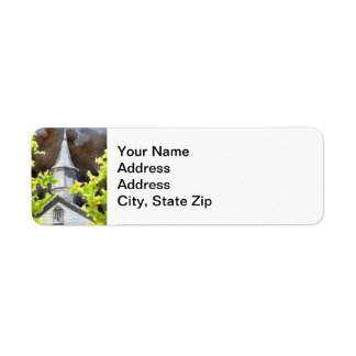 Rural landscapes and scenic views country church . return address label