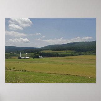 Rural Pennsylvania Farm Poster