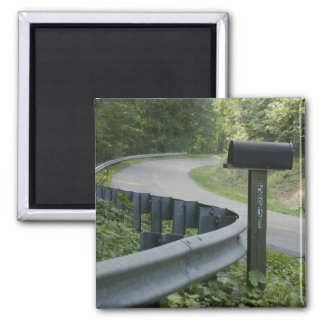 Rural Route Square Magnet