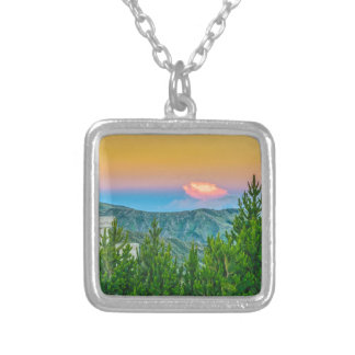 Rural Scene at Quilotoa Town, Latacunga, Ecuador Silver Plated Necklace