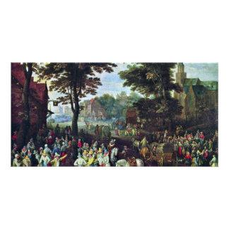 Rural Scene By Bruegel D. J. Pieter (Best Quality) Customised Photo Card