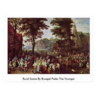 Rural Scene By Bruegel Pieter The Younger Postcard