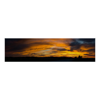Rural Sunset Panorama Poster