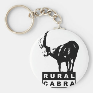 Ruralcabra Basic Round Button Key Ring