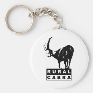Ruralcabra Basic Round Button Key Ring