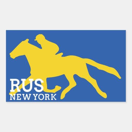 RUS NY logo sticker in navy