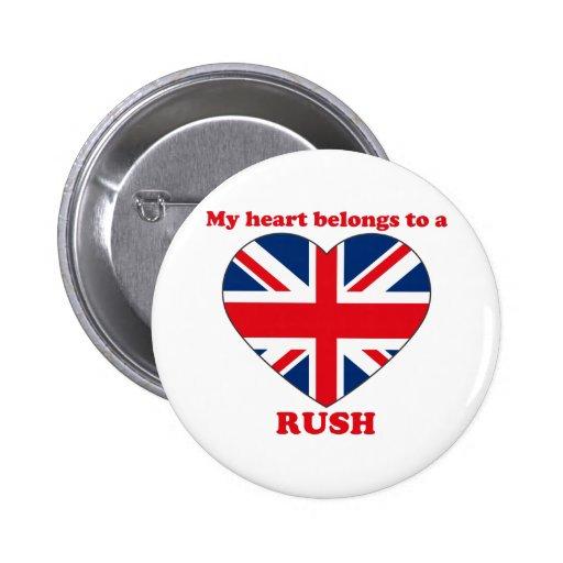 Rush Pinback Buttons