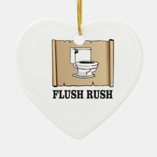 rush flush art ceramic ornament