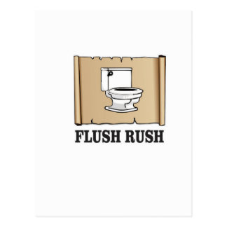 rush flush art postcard