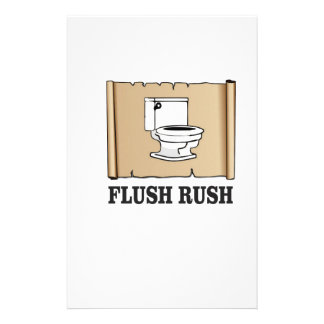 rush flush art stationery