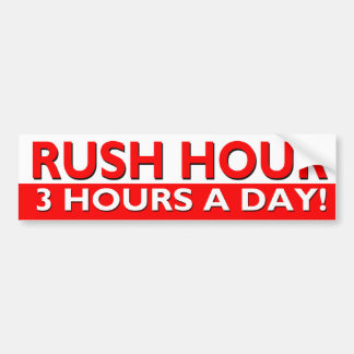 Rush Hour Bumper Sticker - 3