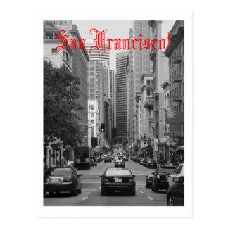 rush hour in San Francisco Postcard