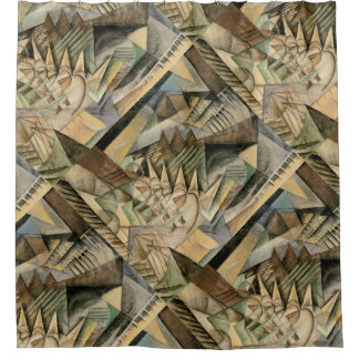 Rush Hour, New York by Max Weber, Vintage Cubism Shower Curtain