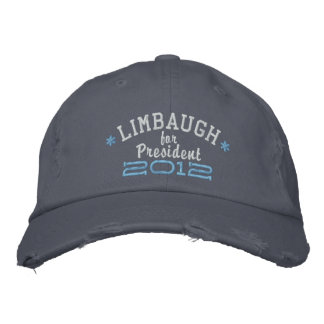 Rush Limbaugh For President 2012 Embroidered Hat