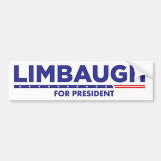 Rush Limbaugh for President Bumper Sticker