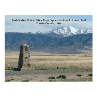 Rush Valley Station Postcard