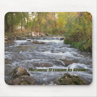 Rushing Stream In Woods - Customized Mouse Pads