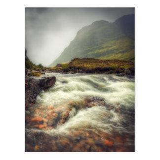 Rushing waters of River Coe Postcard