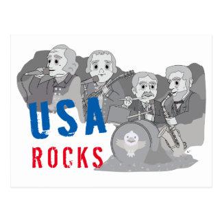 Rushmore Rock Band Postcard