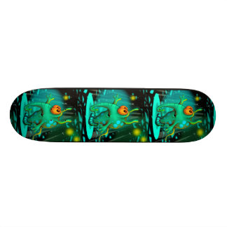 "RUSS ALIEN CARTOON Skateboard 8 1/8"""