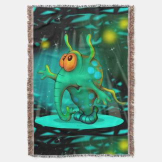 RUSS ALIEN CARTOON Throw Blanket