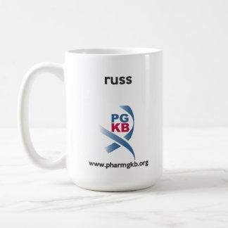 russ - curate red coffee mug
