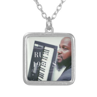 Russ Keyboard Player Silver Plated Necklace