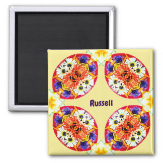 RUSSELL ~ Personalized Easter Pattern Fractal ~ Magnet