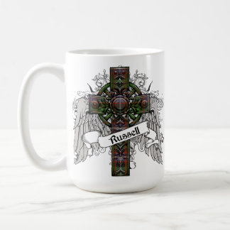 Russell Tartan Cross Basic White Mug