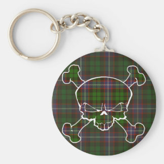 Russell Tartan Skull No Banner Basic Round Button Key Ring