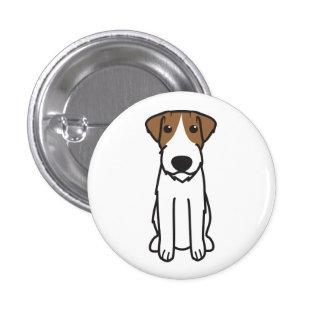Russell Terrier Dog Cartoon Pin