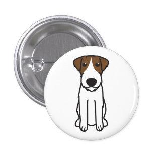 Russell Terrier Dog Cartoon Pinback Buttons