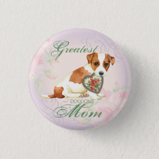 Russell Terrier Heart Mom 3 Cm Round Badge
