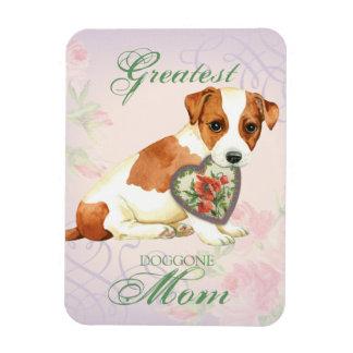 Russell Terrier Heart Mom Magnet