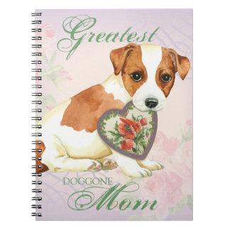 Russell Terrier Heart Mom Notebook