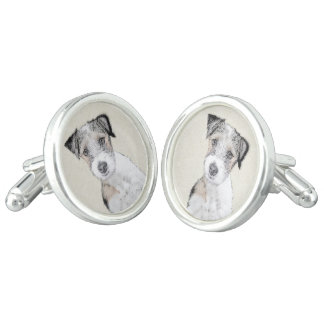 Russell Terrier (Rough) Cuff Links