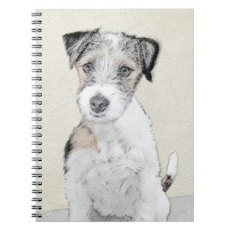 Russell Terrier Rough Painting - Original Dog Art Notebook