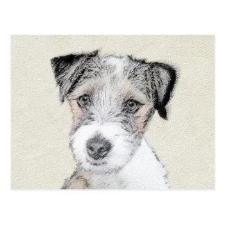 Russell Terrier Rough Painting - Original Dog Art Postcard
