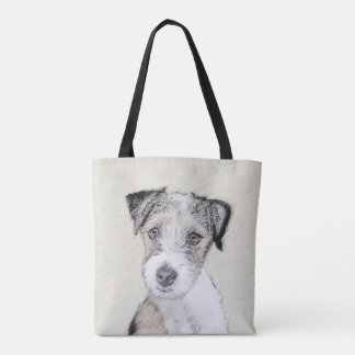 Russell Terrier Rough Painting - Original Dog Art Tote Bag