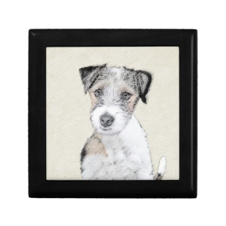 Russell Terrier (Rough) Small Square Gift Box