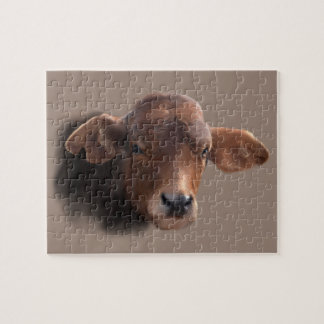 Russet Brown Cow Jigsaw Puzzle