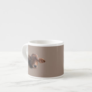 Russet Brown Cow Portrait Espresso Cup