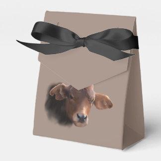 Russet Brown Cow Portrait Favour Box