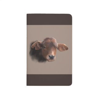 Russet Brown Cow Portrait Journal