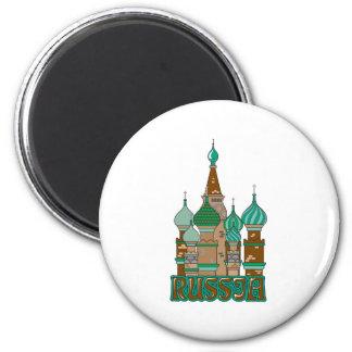 Russia 6 Cm Round Magnet