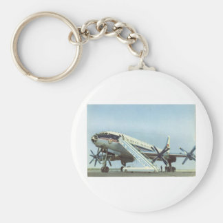 RUSSIA Aeroflot Tu 114 AIRLINER Basic Round Button Key Ring