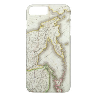 Russia and Asia Engraved Map iPhone 7 Plus Case